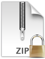 encrypted pdf and zip
