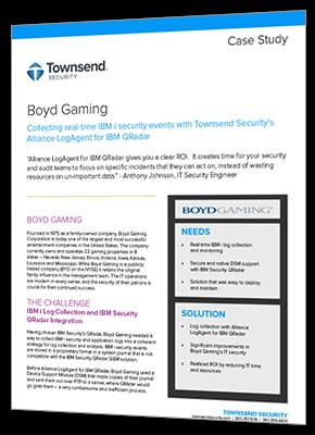 PDF of Boyd Gaming Case Study of LogAgent for QRadar