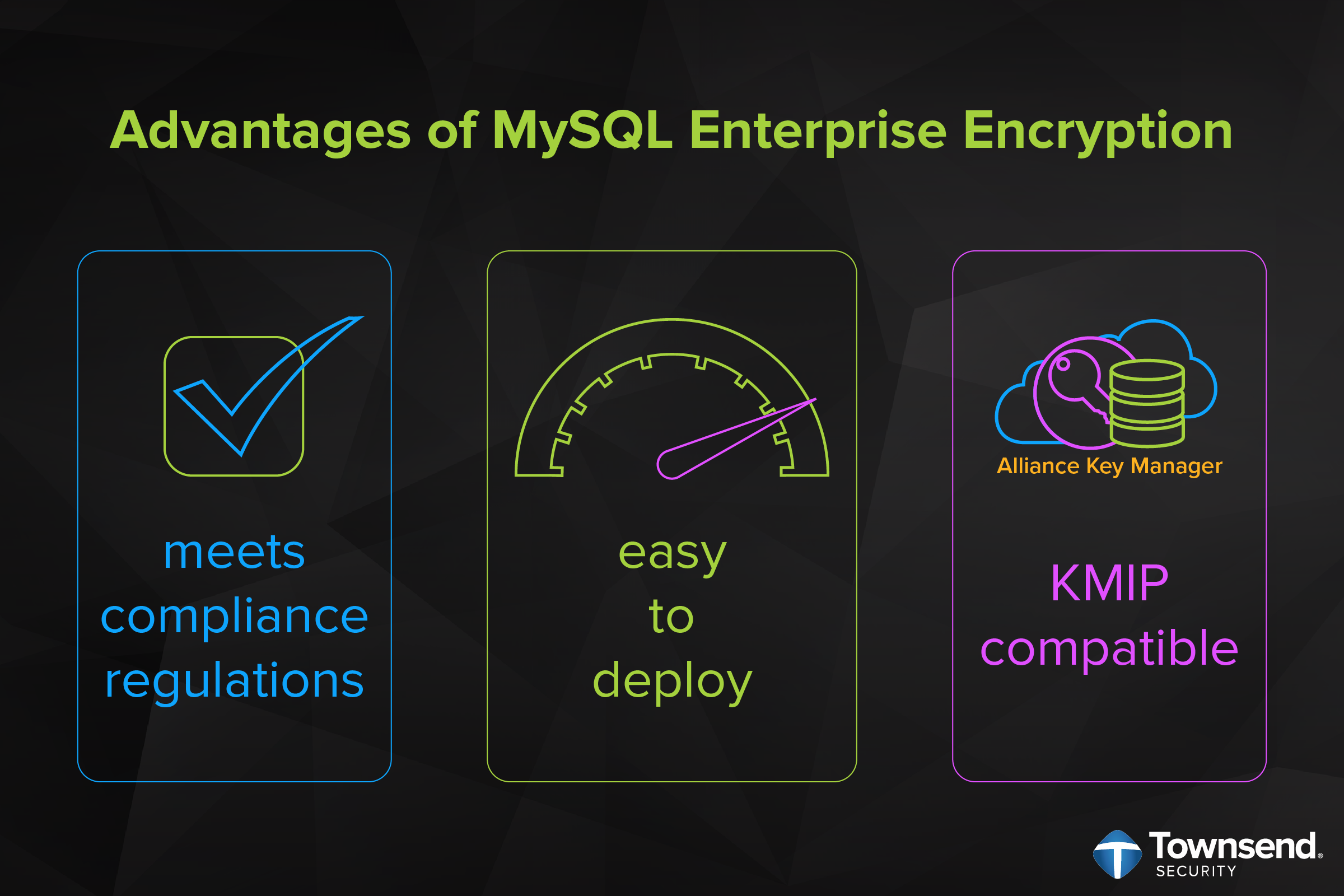 Advantages of MySQL Enterprise Encryption