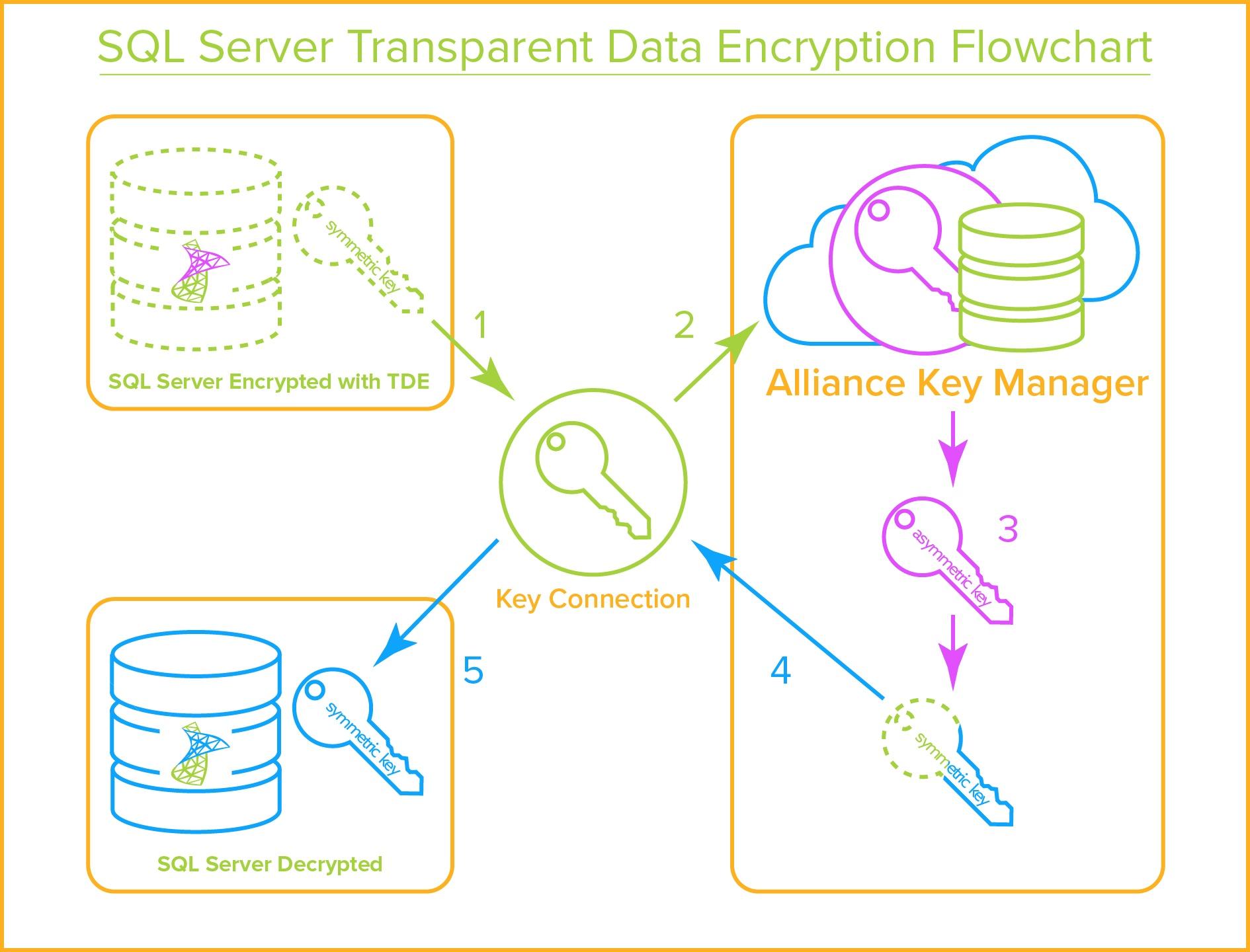 SQL Server -Transparent Data Encryption Flowchart