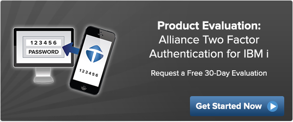 Alliance Two Factor Authentication (2FA) 30-day evaluation
