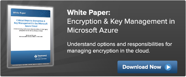 Encryption & Key Management in Microsoft Azure