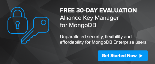 Encryption and key management for MongoDB