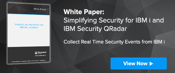 Request the white paper: Simplifying Security for IBM I and IBM QRadar