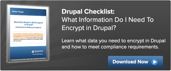 What Data Needs Encrypted In Drupal?